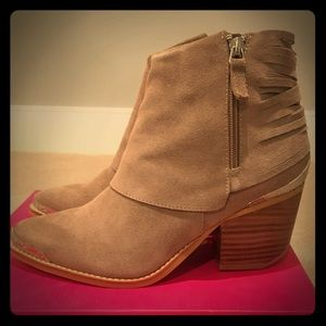 Catherine Malandrino Taupe Suede Bootie